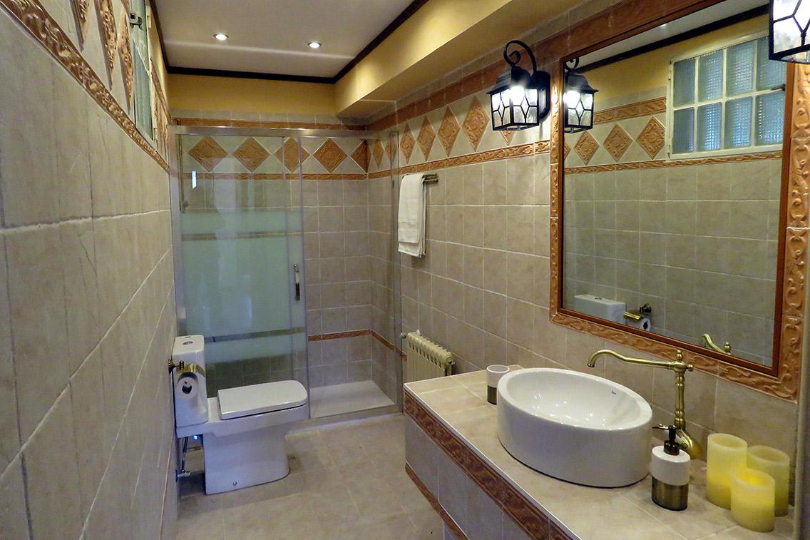 Baño del apartamento rural