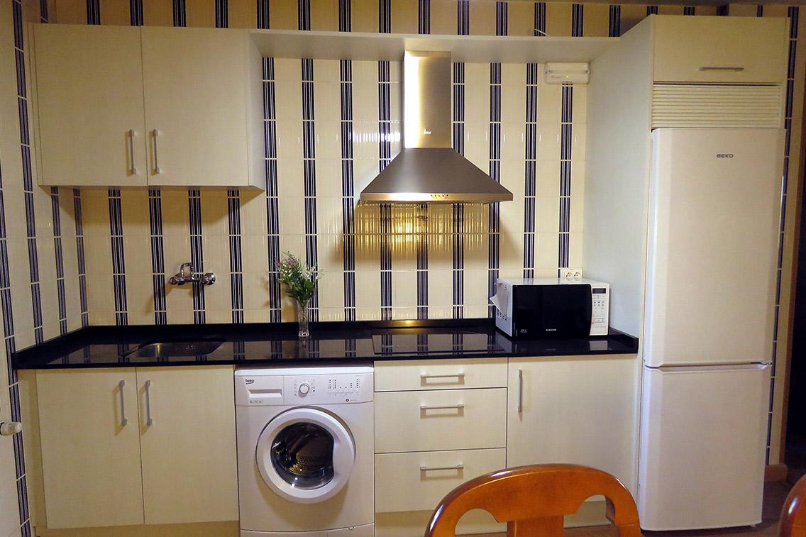 Cocina apartamento rural Baias